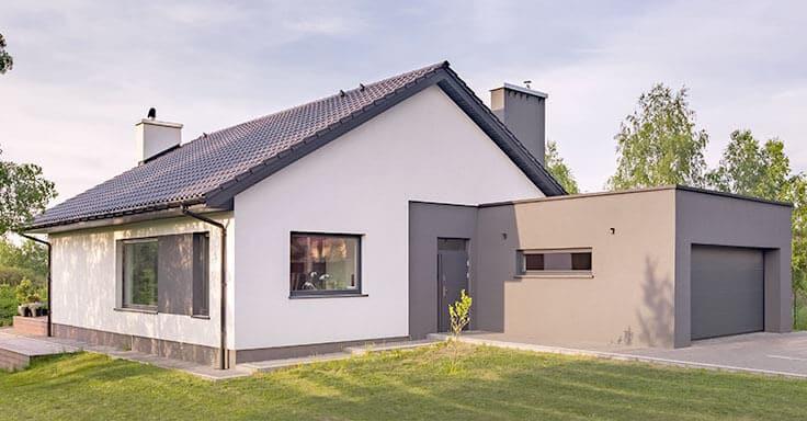 Haus mit Garten und Garage