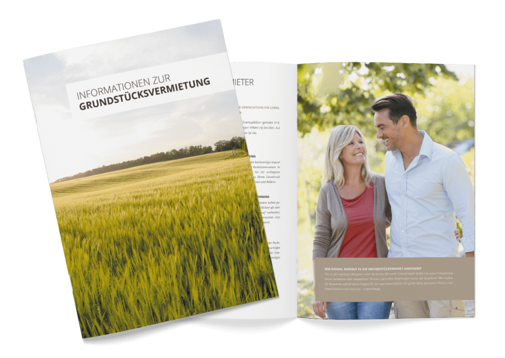 Broschüre Grundstück vermietung